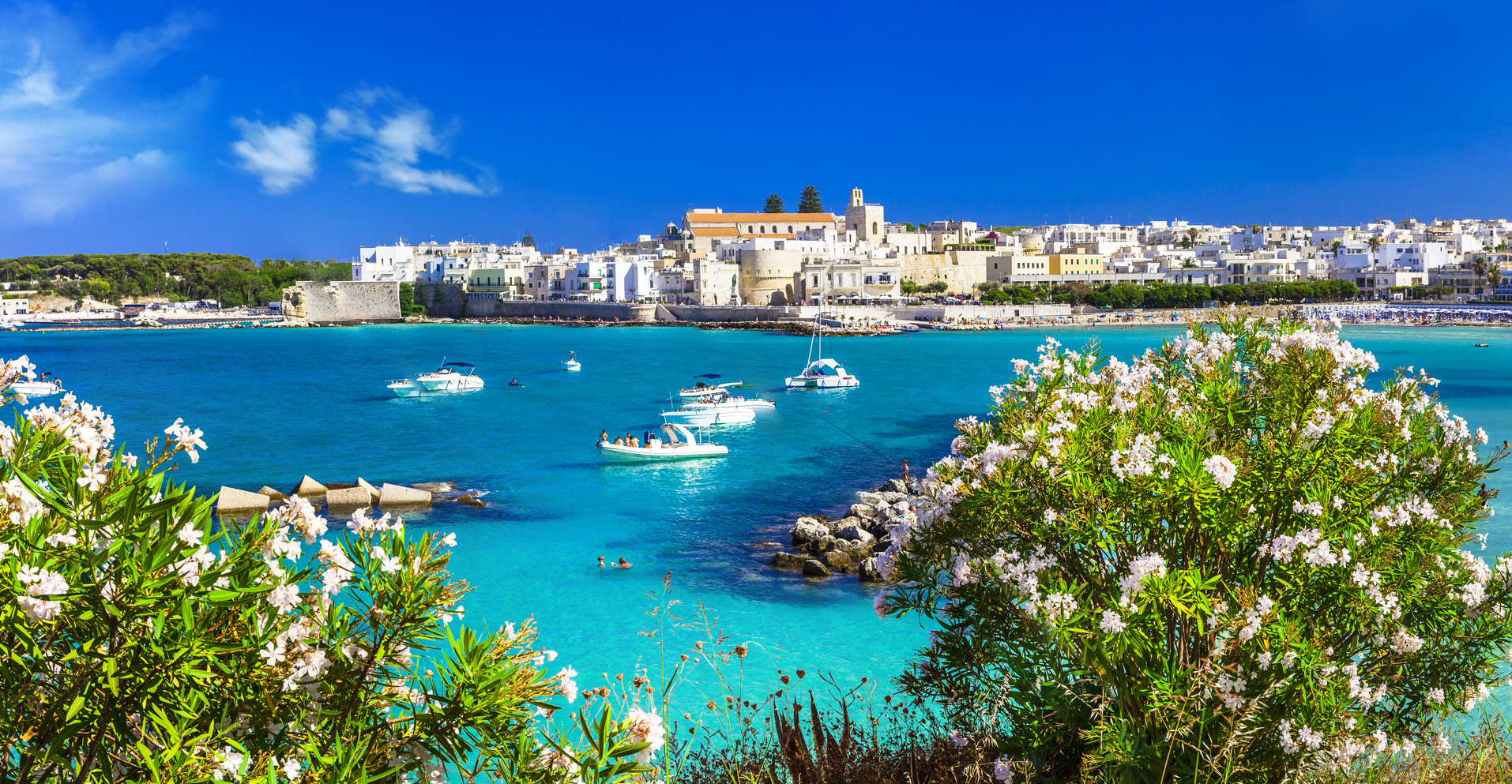 Italian vacation - Otranto in Puglia with cristal waters